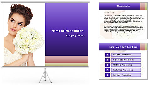 Stylish make-up PowerPoint Template