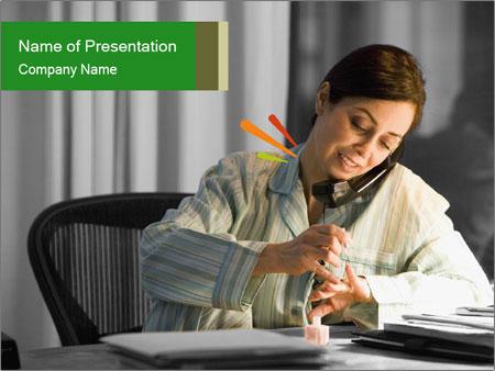 Hispanic businesswoman PowerPoint Template