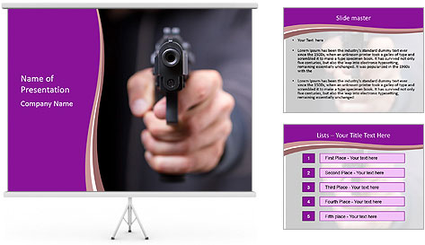 Man with gun PowerPoint Template