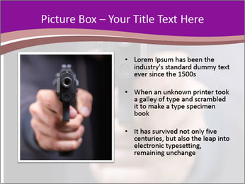 Man with gun PowerPoint Template - Slide 13