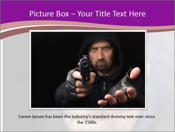 Man with gun PowerPoint Template - Slide 15