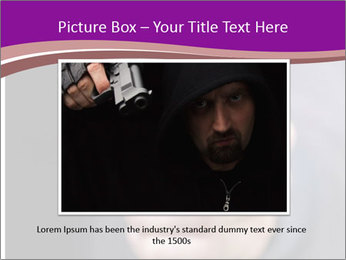 Man with gun PowerPoint Template - Slide 16