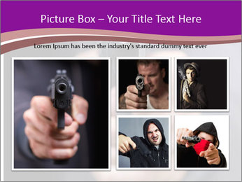 Man with gun PowerPoint Template - Slide 19