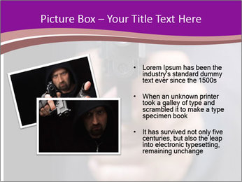 Man with gun PowerPoint Template - Slide 20