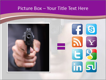 Man with gun PowerPoint Template - Slide 21