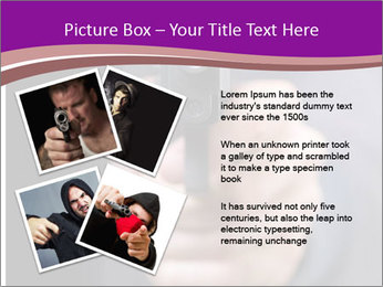 Man with gun PowerPoint Template - Slide 23
