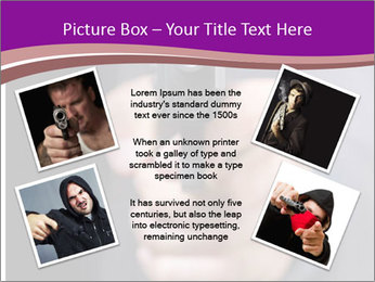 Man with gun PowerPoint Template - Slide 24
