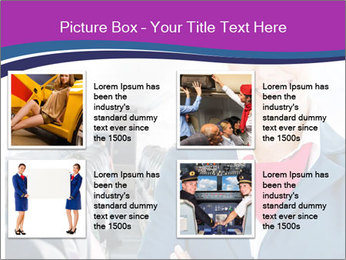 Beautiful flight attendant PowerPoint Template - Slide 14