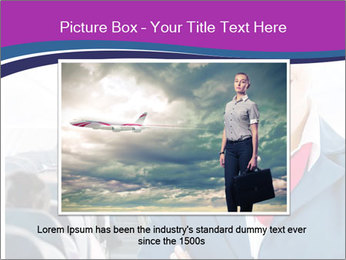 Beautiful flight attendant PowerPoint Template - Slide 16