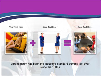 Beautiful flight attendant PowerPoint Template - Slide 22