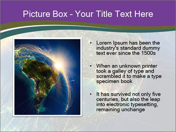 Planet Earth at night PowerPoint Templates - Slide 13