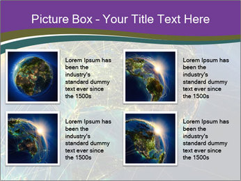 Planet Earth at night PowerPoint Templates - Slide 14