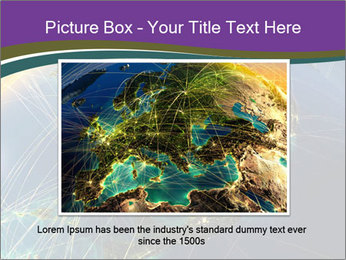 Planet Earth at night PowerPoint Templates - Slide 15