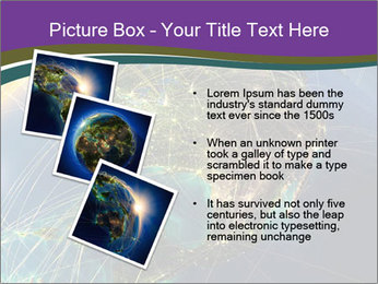 Planet Earth at night PowerPoint Templates - Slide 17
