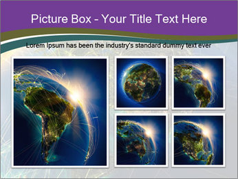 Planet Earth at night PowerPoint Templates - Slide 19