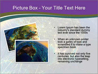 Planet Earth at night PowerPoint Templates - Slide 20