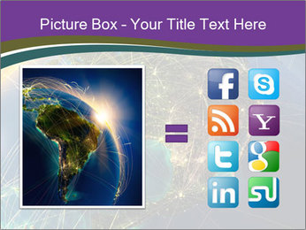 Planet Earth at night PowerPoint Templates - Slide 21