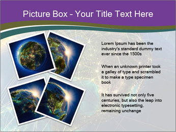 Planet Earth at night PowerPoint Templates - Slide 23