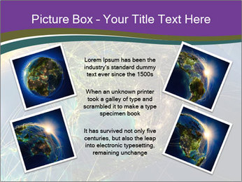 Planet Earth at night PowerPoint Templates - Slide 24