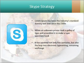 Barbecue, steak PowerPoint Template - Slide 8