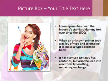 Woman painting PowerPoint Templates - Slide 13