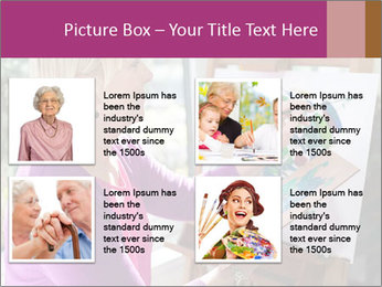 Woman painting PowerPoint Templates - Slide 14