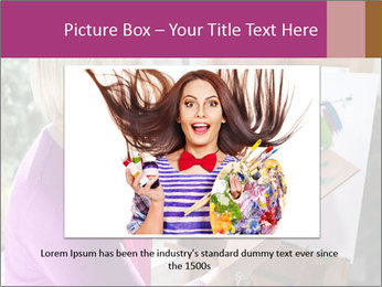 Woman painting PowerPoint Templates - Slide 15