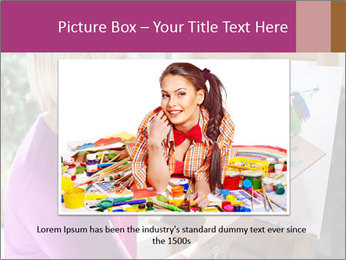 Woman painting PowerPoint Templates - Slide 16