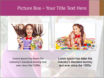 Woman painting PowerPoint Templates - Slide 18