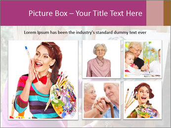 Woman painting PowerPoint Templates - Slide 19
