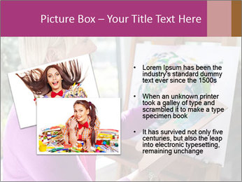 Woman painting PowerPoint Templates - Slide 20