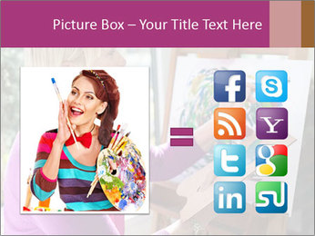 Woman painting PowerPoint Templates - Slide 21
