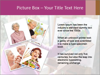 Woman painting PowerPoint Templates - Slide 23