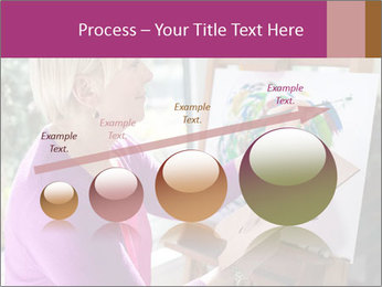 Woman painting PowerPoint Templates - Slide 87