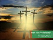 Еhree easter crosses PowerPoint Templates