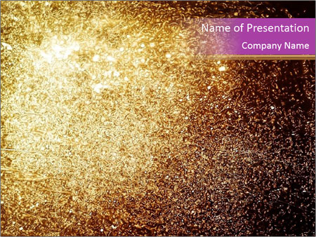 Grungy golden PowerPoint Templates