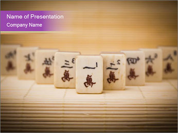 Old chinese game PowerPoint Templates - Slide 1