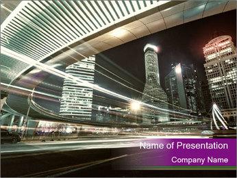 Shanghai Pudong skyline PowerPoint Template - Slide 1
