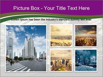 Shanghai Pudong skyline PowerPoint Template - Slide 19