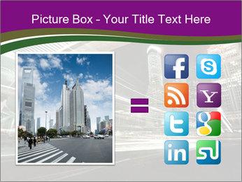 Shanghai Pudong skyline PowerPoint Template - Slide 21