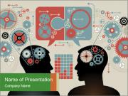 Silhouette of the brain PowerPoint Template