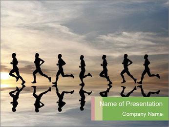 Silhouette of runner PowerPoint Template - Slide 1