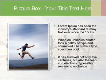 Silhouette of runner PowerPoint Template - Slide 13