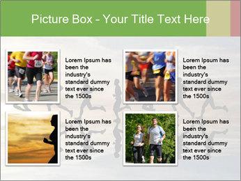 Silhouette of runner PowerPoint Template - Slide 14