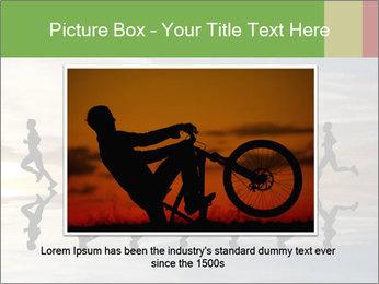 Silhouette of runner PowerPoint Template - Slide 15
