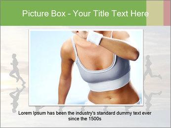 Silhouette of runner PowerPoint Template - Slide 16
