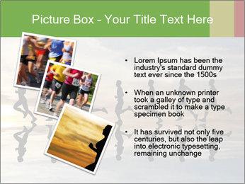 Silhouette of runner PowerPoint Template - Slide 17