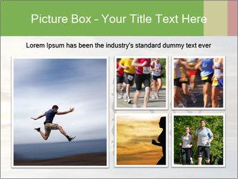 Silhouette of runner PowerPoint Template - Slide 19