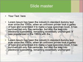 Silhouette of runner PowerPoint Template - Slide 2