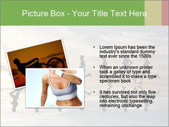 Silhouette of runner PowerPoint Template - Slide 20